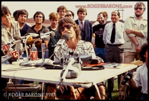 mick jagger jfk press conference