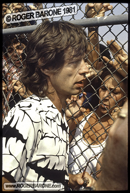 mick jagger meets fans in philly 1981 photo by roger barone