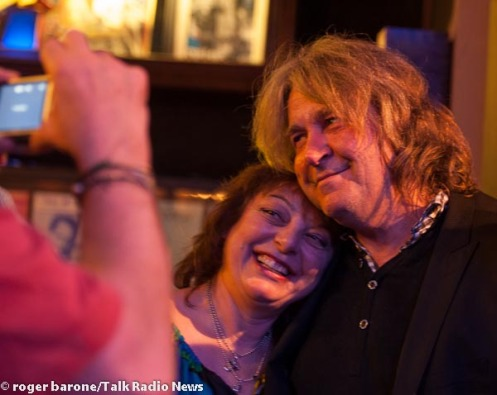 Former Rolling Stones' guitarist Mick Taylor poses with fans at Iridium Club New York City, photo: © Roger Barone 2012