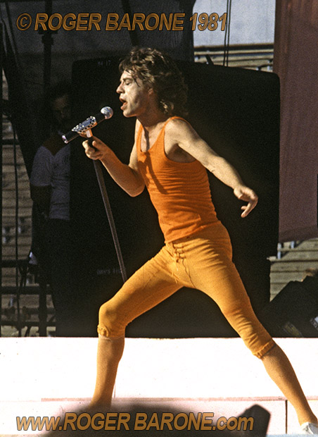 Mick Jagger concert photo JFK Stadium philly 1981 by roger barone