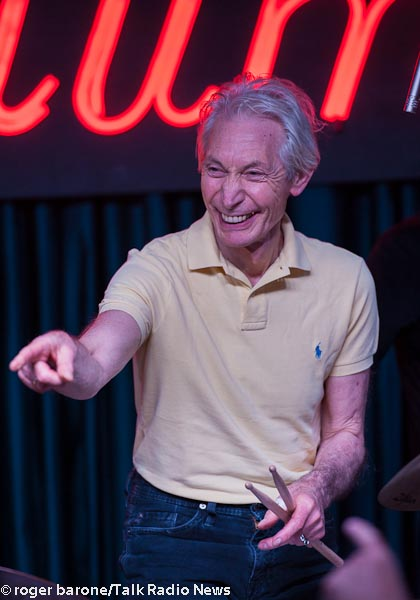 rolling stones drummer, charie watts concert photo iridium club by roger barone june 29, 2012
