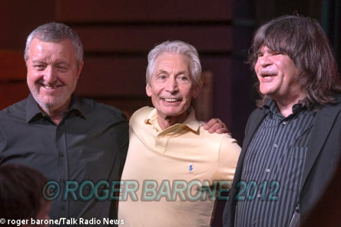 rolling stones drummer, charlie watts, with members of his ABCD Boogie Woogie Band photo by roger barone 6/29/12