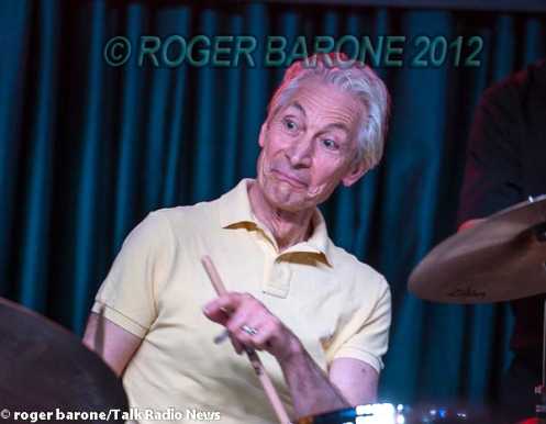 rolling stones drummer charlie watts photo from iridium club 6/29/12 by roger barone