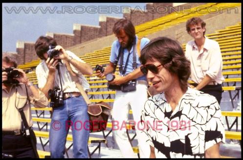 Mick Jagger press conference photo from philly by roger barone august 1981