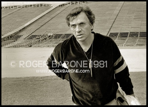 Rock and Roll Emprasario Bill Graham photo from Philly JFK Stadium Stones' press conference 8/26/81 by roger barone