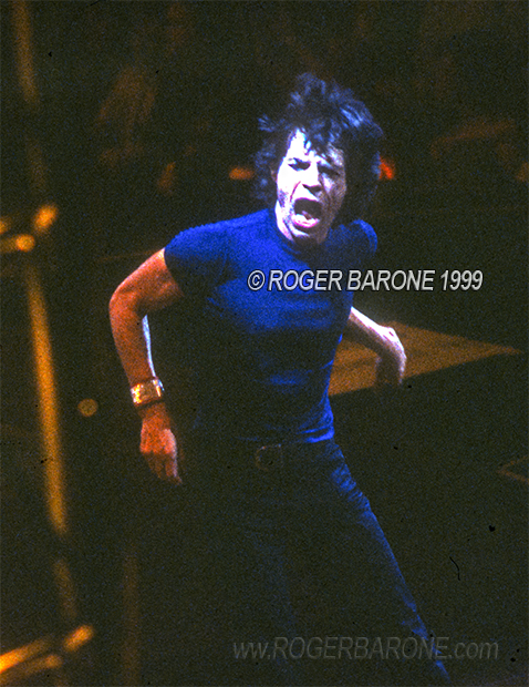 Mick Jagger Rolling Stones concert photo First Union Center Philly (3/15/99) roger barone