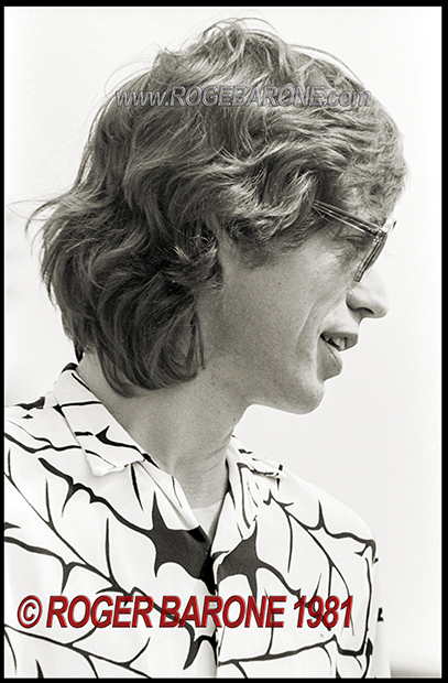 Mick Jagger photo JFK Stadium press conference (8/26/81) © roger barone 1981