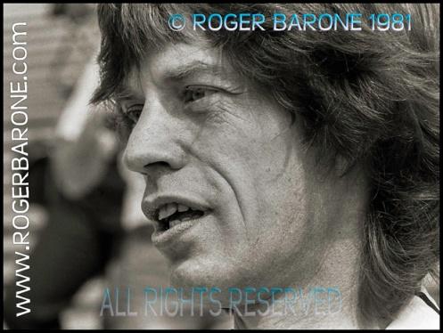 Mick Jagger press conference JFK Stadium, Philadelphia (8/26/81) © ROGER BARONE 1981