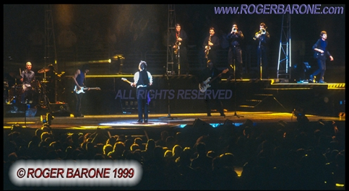 rolling stones group shot First Union Center 3/15/99 © roger barone 1999