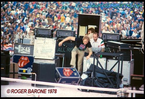 Rolling Stones after concert riot JFK Stadium 197i8 © roger barone