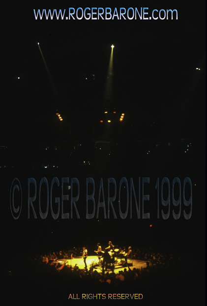 rolling stones perform on small stage at First Union Center 3/15/1999 photo: roger barone
