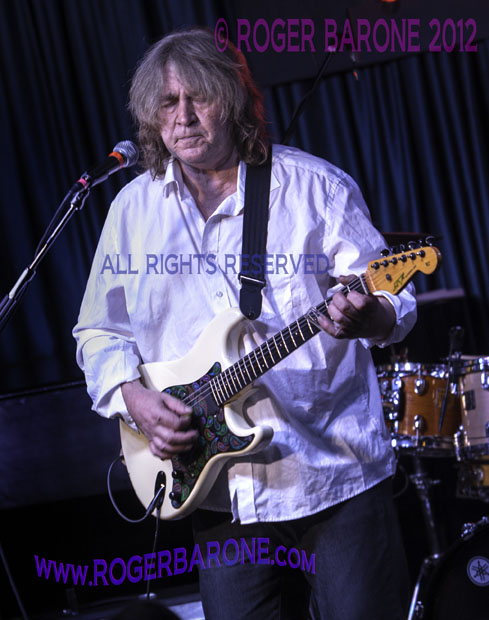 "Rolling Stones guitarist Mick Taylor plays ""No Expectations"" at Iridium Club New York (5/12/12) photo roger barone"