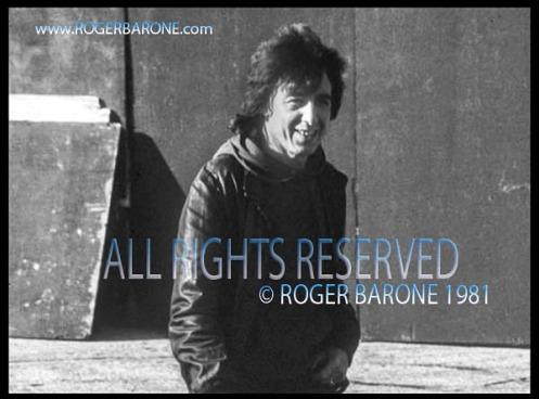 Rolling Stones bass player Bill Wyman arrives at JFK Stadium. © Roger Barone 1981