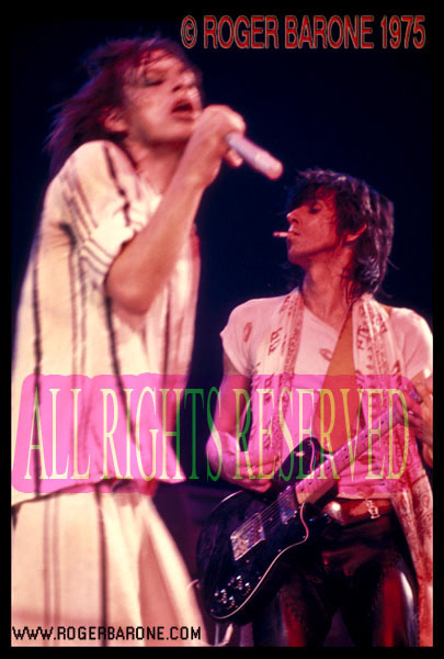 Mick Jagger and Keith Richards Spectrum Arena June 29, 1975 © roger barone