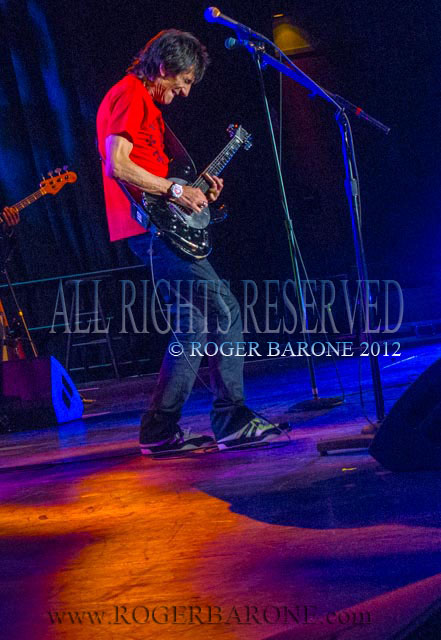 Rolling Stones guitarist Ronnie Wood solo performance Atlantic City April 21, 2012. © roger barone