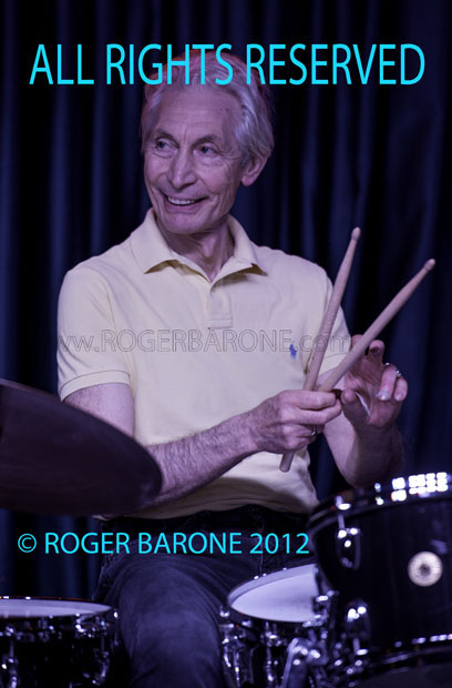 Rolling Stones' drummer, Charlie Watts performs at the Iridium Club in New York, during rare solo appearance. June 29, 2012 © roger barone