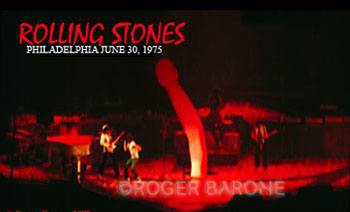 Rolling Stones Phallic Balloon unzipped at Spectrum Arena, June 29, 1975; © Roger Barone