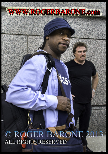 darryl jones rolling stones bass player exiting four seasons hotel philly, June 23, 2013 © roger barone 2013