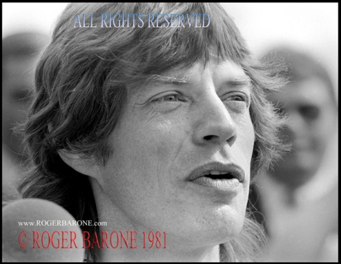 Mick Jagger press conference JFK Stadium, August 26, 1981, photo roger barone