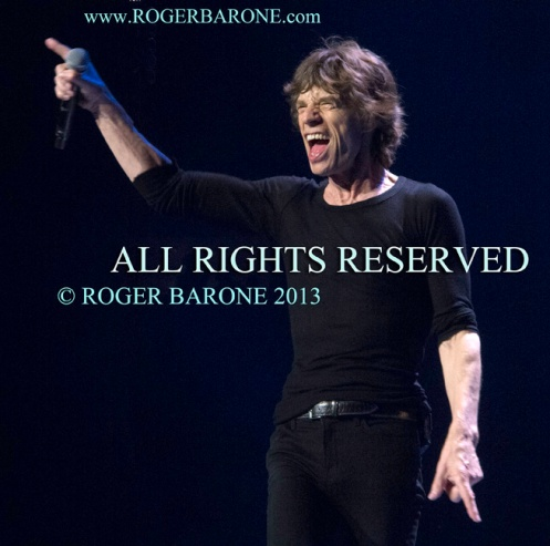 Mick Jagger Rolling Stones laughing Wells Fargo Center ,Philly, June 21 2013, photo by roger barone copyrighted