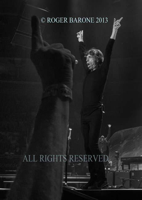 Mick Jagger and the Rolling Stones proclaimed number one by a fan. © roger barone 2013