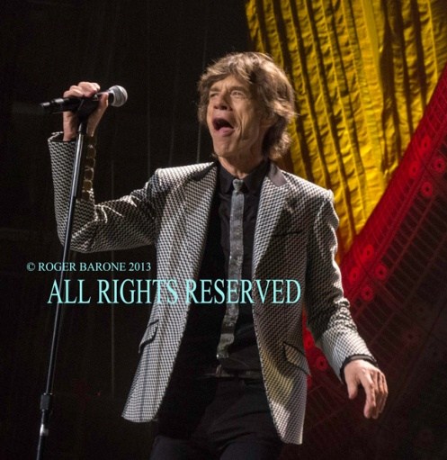 Mick Jagger and Rolling Stones Philly june 21, 2013. photo: roger barone 2013
