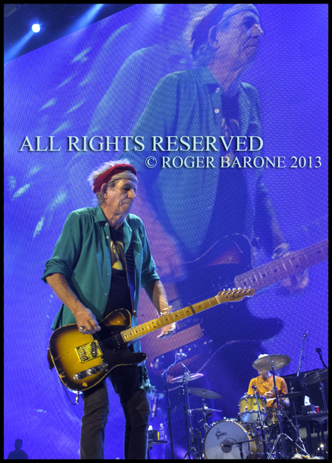 Keith Richards Wells Fargo Center Rolling Stones. June 21, 2013, photo by roger barone