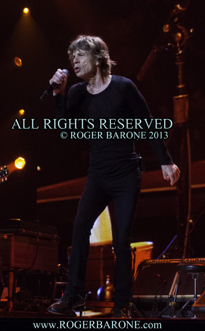 "Mick Jagger performing the ""50 and Counting"" Tour in Philly. June 21, 2013. photo by roger barone"