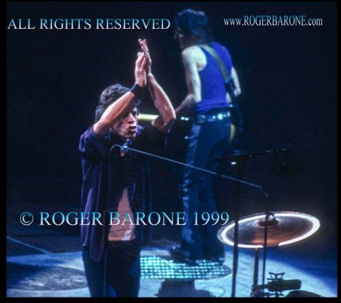 Mick Jagger and Ronnie Wood Philly First Union Center Rollling Stones Concert © roger barone 199