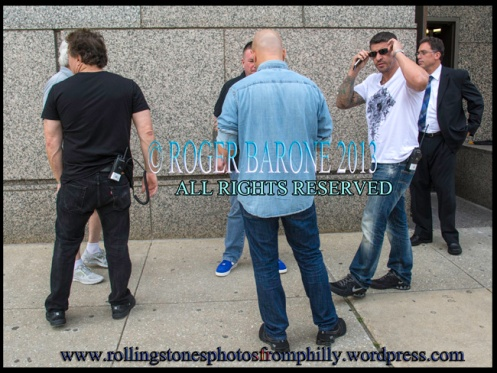 rolling stones security team at Four Seasons Hotel in Philly. June 23, 2013, © Roger Barone