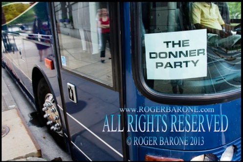 Rolling Stones' bus outside Four Seasons Hotel Philly: june 23, 2013, © roger barone