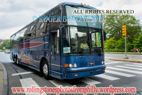 rolling stones tour bus four seasons hotel philly. june 23, 2013 © roger barone