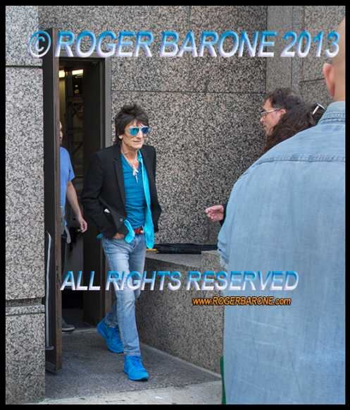 Rolling Stones guitarist Ronnie Wood exits Four Seasons Hotel, Sunday June 23, 2013. photo © roger barone