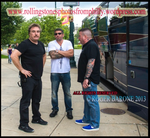 rolling stones body guards four seasons hotel philly june 23, 2013. © roger barone