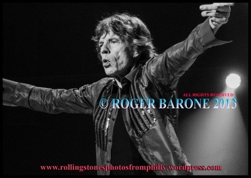 Mick Jagger intensity in song Wells Fargo Center, june 21, 2013. photo by roger barone