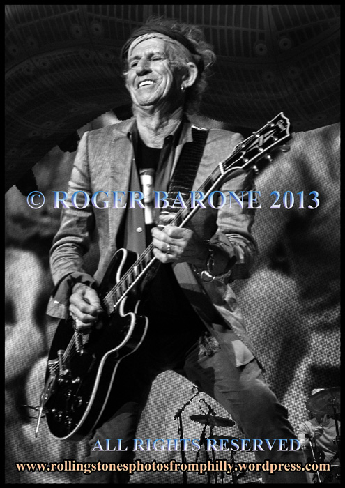 keith richards telecaster wells fargo center philly june 21, 2013 photo by roger barone