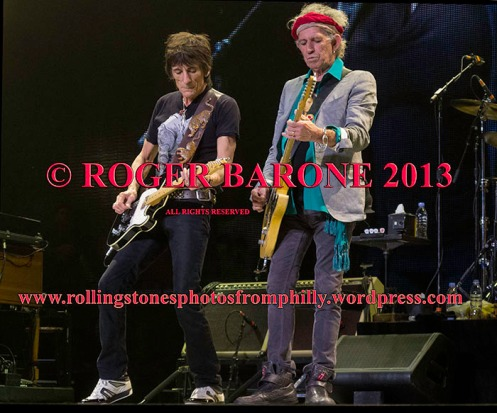 keith richards and ronnie wood, wells farrgo center june 21, 2013 photo by roger barone