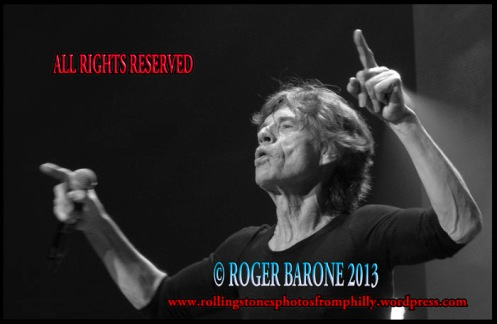 mick jagger wells fargo center 50 and counting photo by roger barone