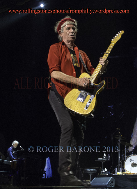 keith richards wells fargo center philly, june 21, 2013, © roger barone
