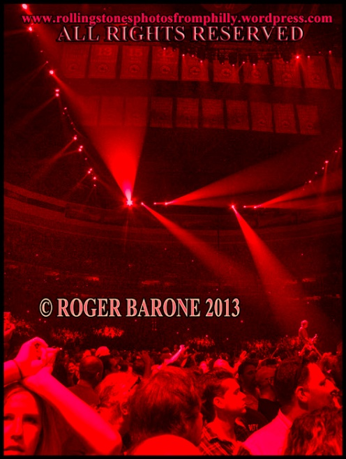 Rolling Stones crowd Wells Fargo Center, june 21, 2013 © roger barone