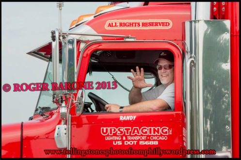 Rolling Stones' truck driver UPSTAGING, june 21, 2013, photo roger barone