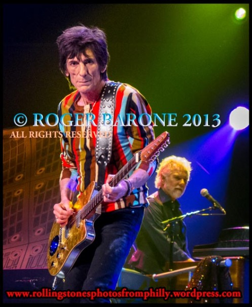 ronnie wood crowd eye contact, june 21, photo by roger barone