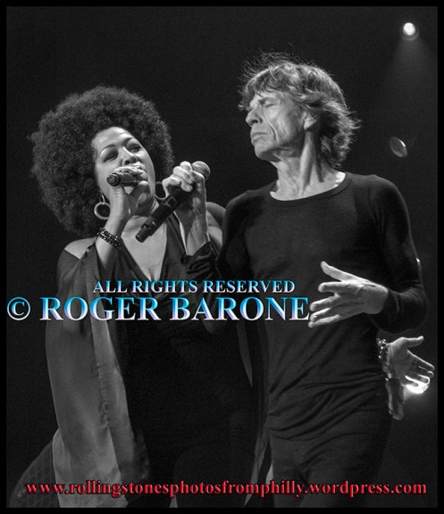 Mick Jagger & Lisa Fischer Sympathy For the Devil, rolling stones, photo by roger barone