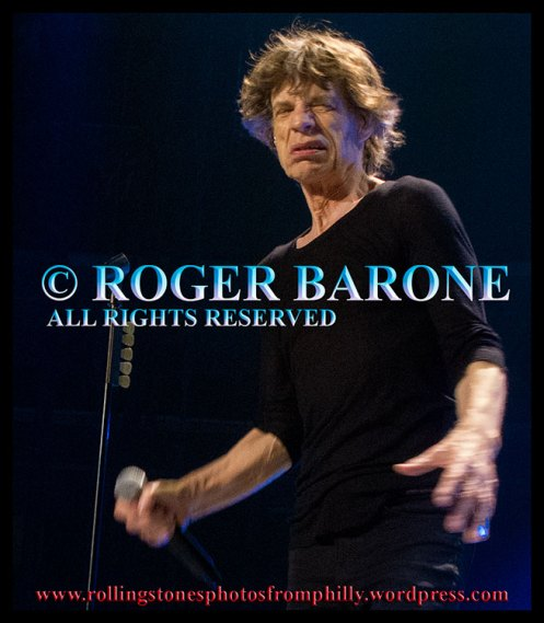 Mick Jagger at seventy years old, Wells Fargo Center, Philly, photo by roger barone