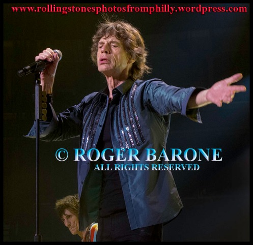 "Mick Jagger ""You Can't Always Get What You Want"" Rolling Stones Wells Fargo Center photo by roger barone 2013"