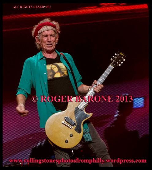 "Keith Richards playing ""Brown Sugar"" Wells Fargo Center, June 21, 2013. © Roger Barone 2013"