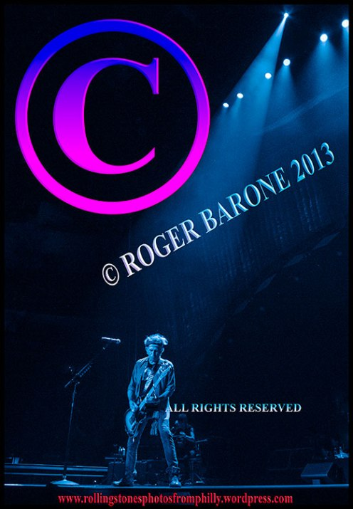 """keith richards playing """"Happy"""" at Wells Fargo Center photo by roger barone june 21, 2013"""