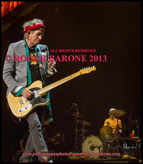 Keith Richards telecaster guitar june 21, 2013 wells fargo center, photo by roger barone