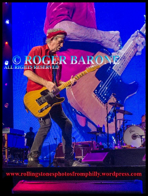 Keith Richards Fender Telecaster Wells Fargo Center, june 21, 2013, photo by roger barone
