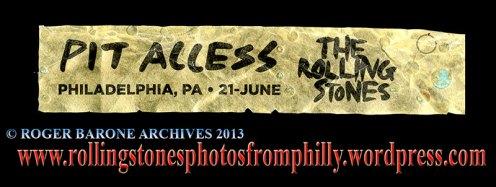 Rolling Stones Tongue Pit Bracelet Philadelphia june 21, 2013 roger barone archives